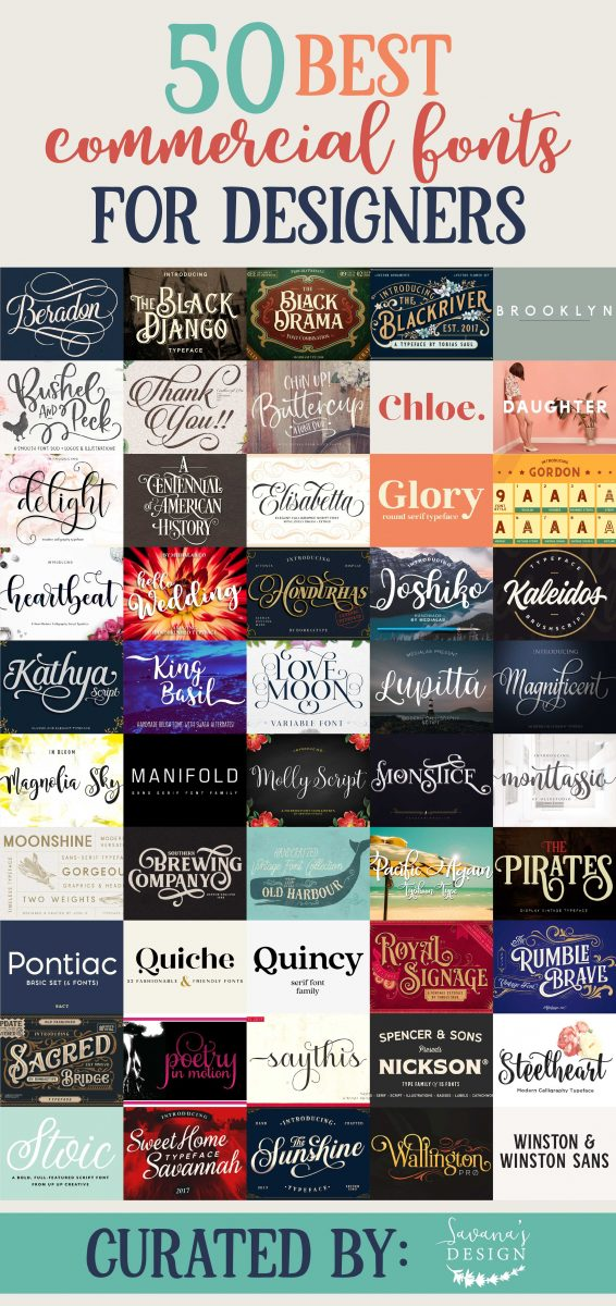 Best Commercial Fonts For Designers