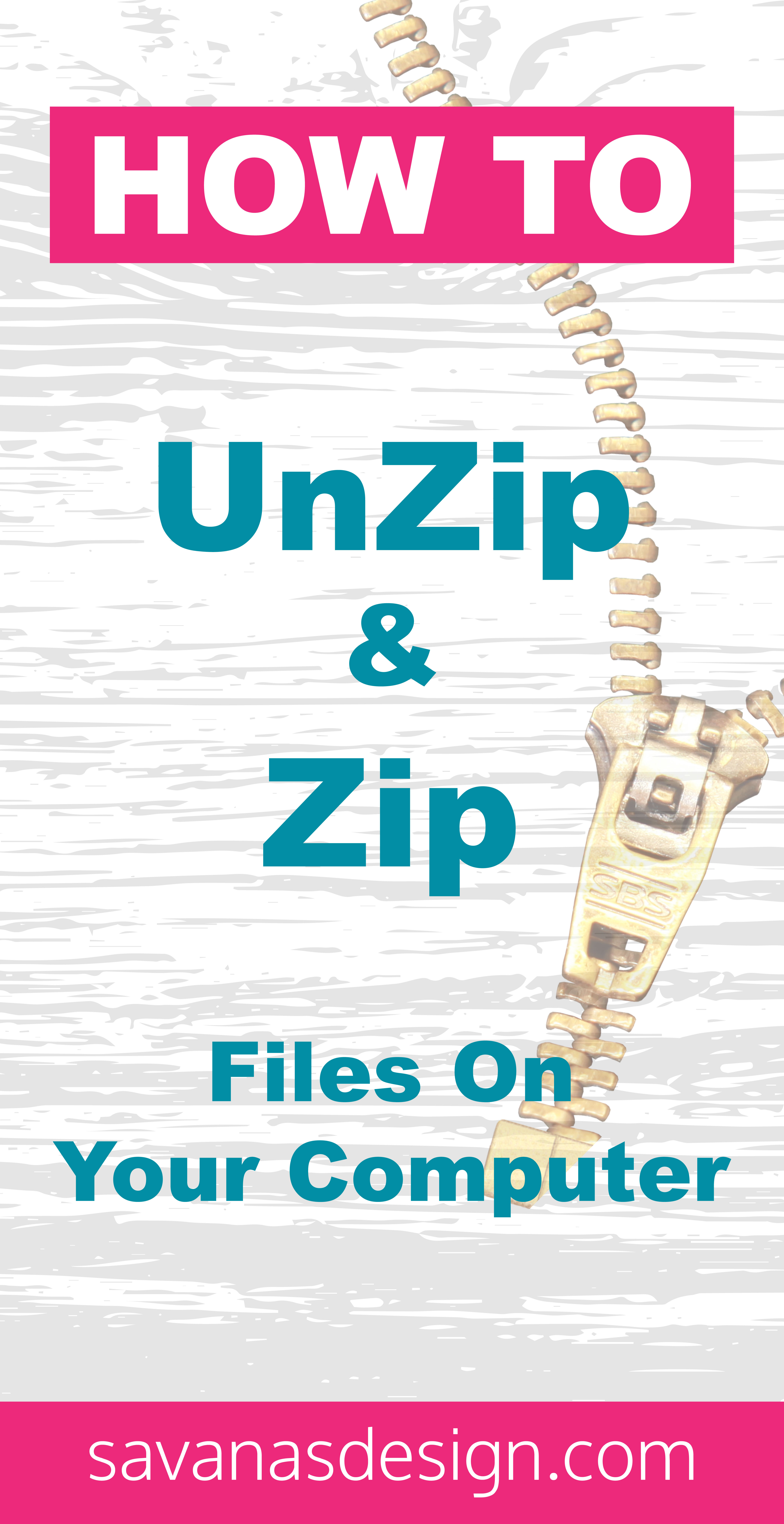 How To UnZip and Zip Files on your Computer Pinterest