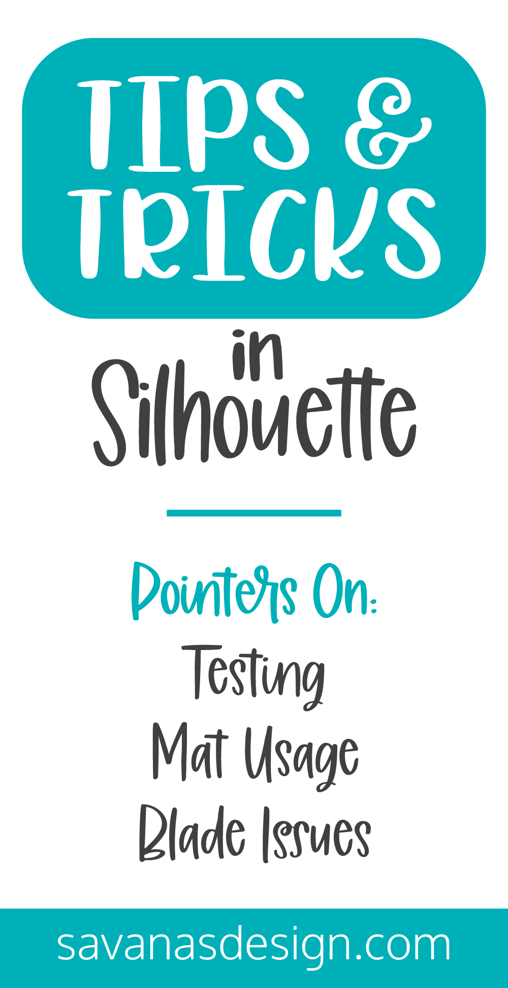Silhouette Tips and Tricks Pinterest