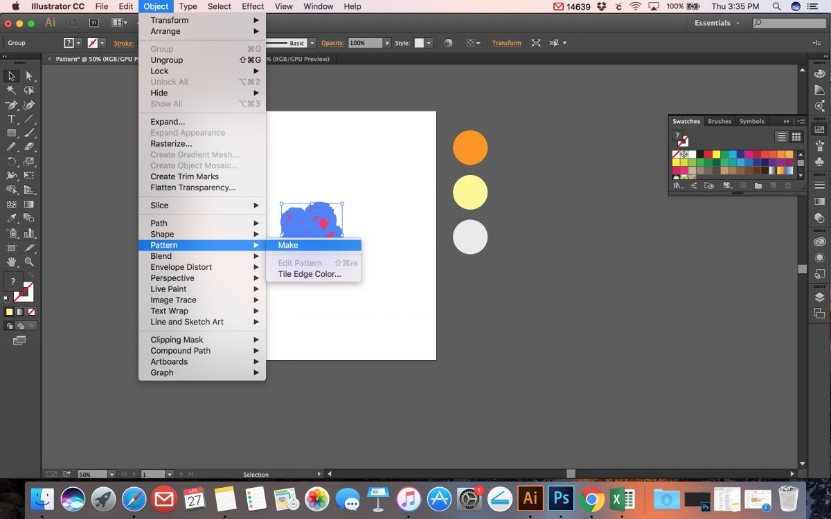 How to Make a Seamless Pattern in Illustrator Tutorial - SVG