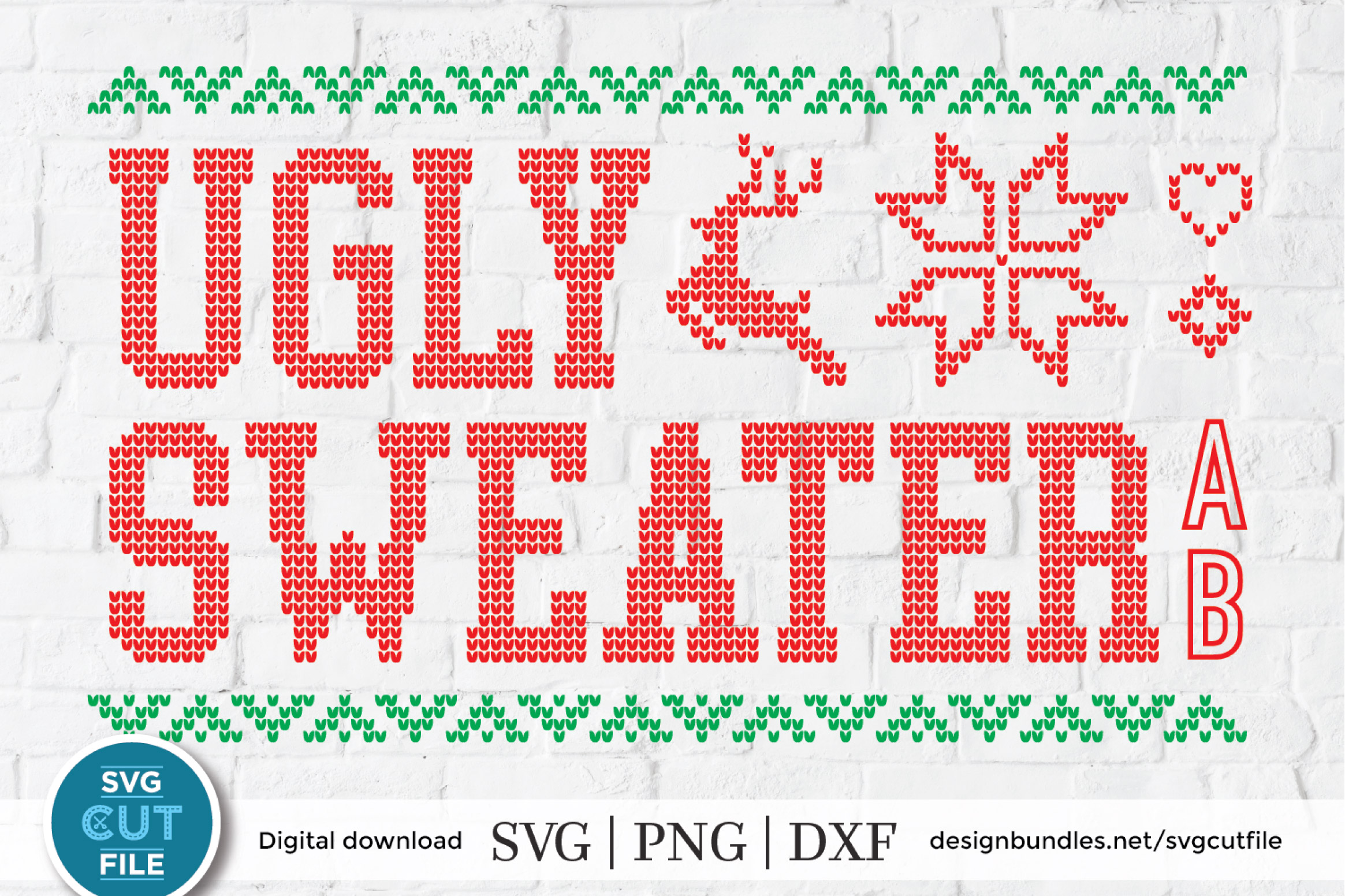 Ugly Christmas Sweater by SVGCutFile